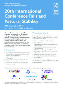 20th International Conference on Falls and Postural Stability